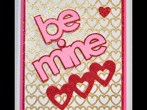 Embossed Valentines Day Card Cricut Explore Youtube