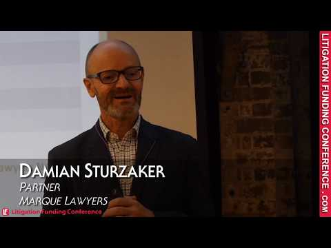 Damian Sturzaker from Marque Lawyers on International Arbitration: Litigation Funding Conference