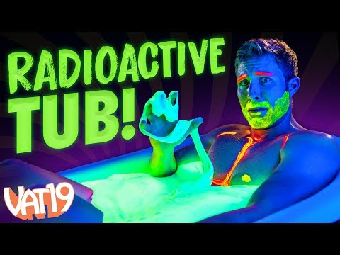We Bathed in 500 pounds of GLOWING Putty!