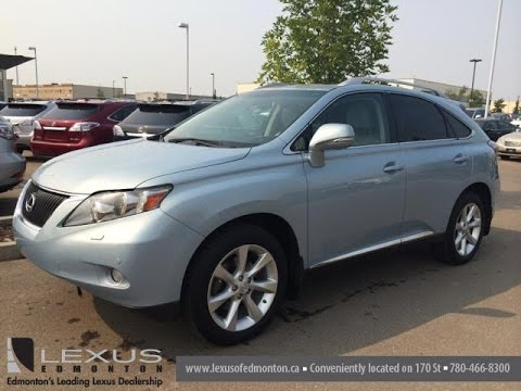Pre Owned Blue On Light Grey 2017 Lexus Rx 350 Awd Ultra Premium Package 1 Review West Edmonton