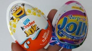 #New Kinder Joy Surprise Egg Vs Jolly Surprise Egg