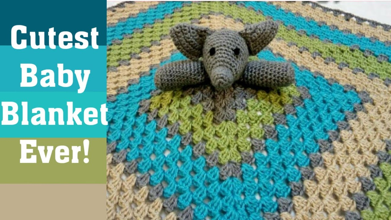 Sweet Nothings Crochet: ADORABLE ELEPHANT GRANNY SQUARE - IN THE ROUND - 8 | 720x1280