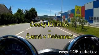 Mototrasa Český Krumlov - Černá v Pošumaví - www.top-ridici.cz