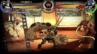 Skullgirls - Cerebella ground chain-pummel horse-showstopper
