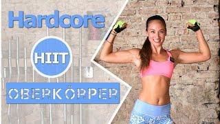 Oberarme straffen - Hardcore HIIT für den Oberkörper - Arme trainieren - Workout Zuhause ohne Pause