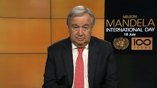 António Guterres (UN Secretary-General) on Nelson Mandela International Day 2018 thumbnail
