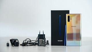 Samsung Galaxy Note10 Plus Unboxing deutsch AURA GLOW