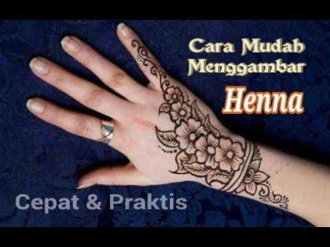 Cara Menggambar Henna (cepat & mudah) - YouTube