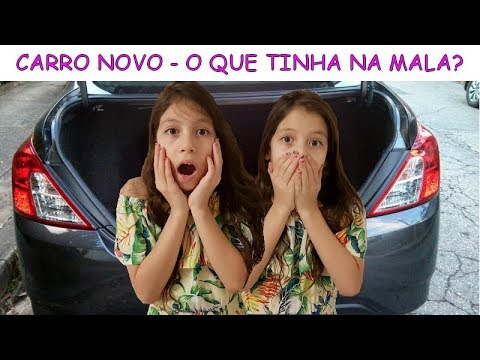 COMPRAMOS O CARRO NOVO - O QUE TINHA NA MALA?