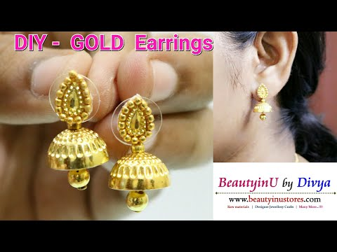 DIY // How to Make Gold Earrings in 2 Minutes at Home // Tutorial