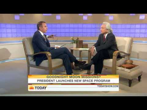 Michio Kaku on the Today Show speaking about Obama Administration's plans for the space program