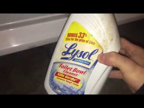 How to REMOVE rust stains off your car using Lysol Toilet bowl cleaner