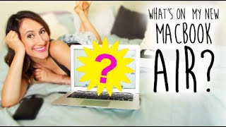 Whats on My NEW  MacBook Air? (Unboxing and Review) 2014 | itsLyndsayRae Thumbnail