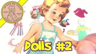 Vintage Paper Dolls Collection - Paper Doll Video 2 - Pigtail Girl