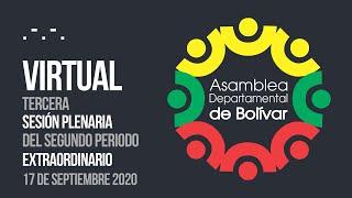 Tercera Sesión Plenaria del Segundo Periodo Extraordinario - 17 Septiembre 2020