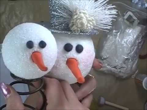 Christmas Crafts To Sell At Bazaar.2017 Christmas Craft Bazaar Diy Tutorial Series Vid 1 Snowman W Bedsprings To Make And Sell