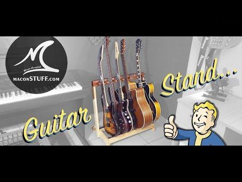 DIY - Handmade Guitar Stand - Ash and Rosewood