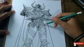 SPEED DRAW Aldebaran cavaleiro de ouro (cavaleiros do zodíaco).