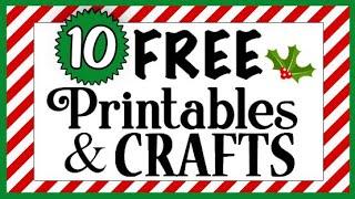 10 FREE Christmas Printables! 🎄 (cheap & easy crafts!) Dollar Tree DIYs 2021