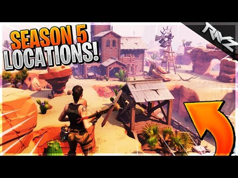 SEASON 5 NEW LOCATIONS LEAKED! WILD WEST DESERT, STRIP MALL AND MORE! (Fortnite Battle Royale)