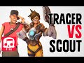 TRACER VS SCOUT Rap Battle by JT Machinima