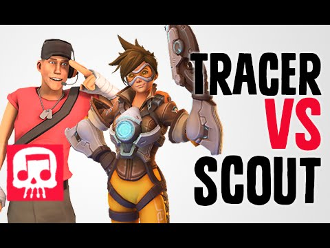 TRACER VS SCOUT Rap Battle by JT Music