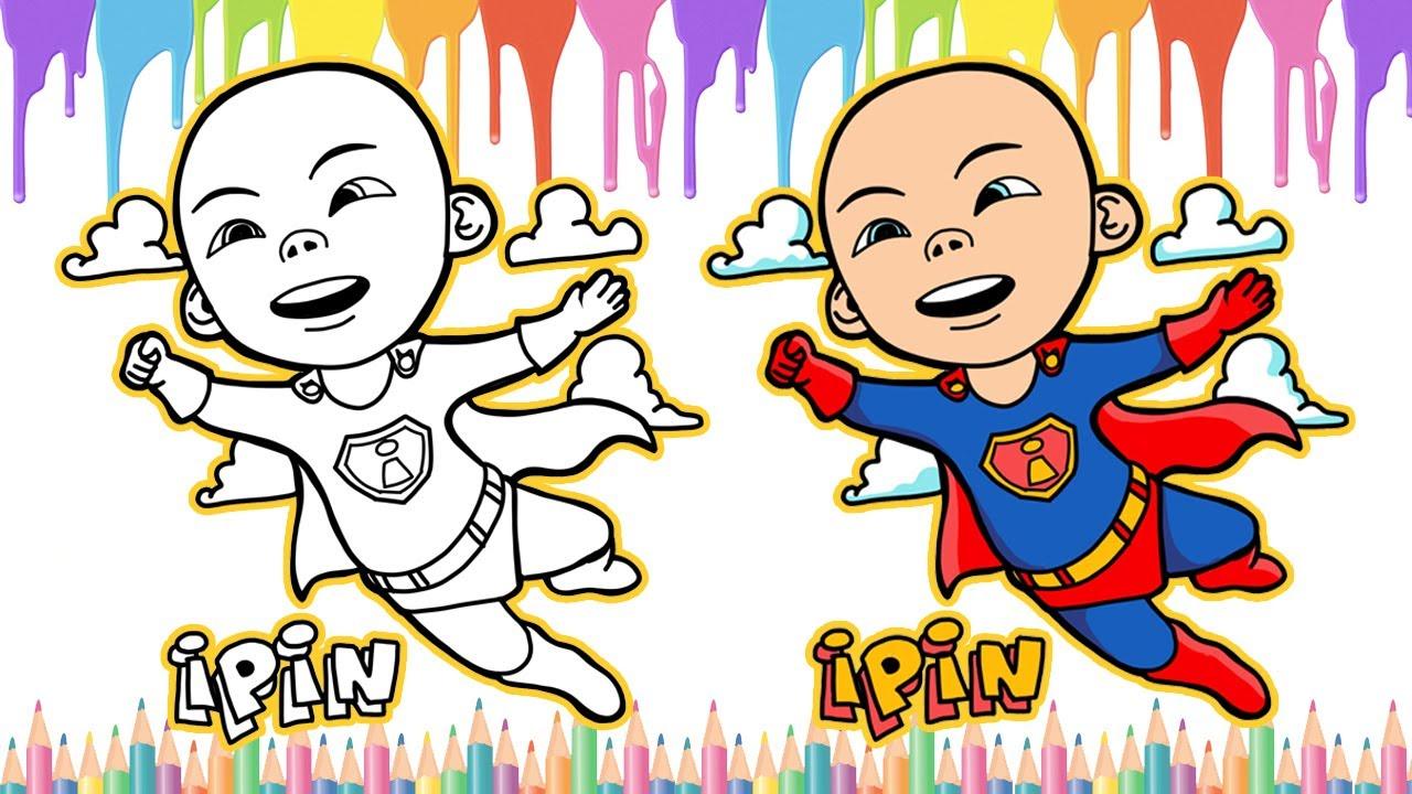 Menggambar Dan Mewarnai Upin Ipin Gambar Ipin Jadi Superman Youtube
