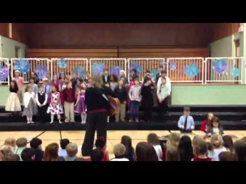 Holidays concert at the Newton Montessori School