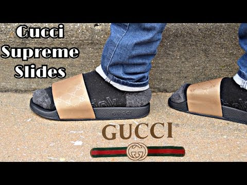 ad2c9b941b0133 Gucci GG Supreme Slide Sandal Review + On Feet Review (yeskicks.cn ...
