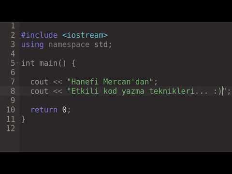 Etkili kod yazma teknikleri - Ders 1