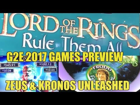 ♦️G2E 2017♦️NEW LORD OF THE RINGS AND ZEUS AND KRONUS-SG part 2 of 3
