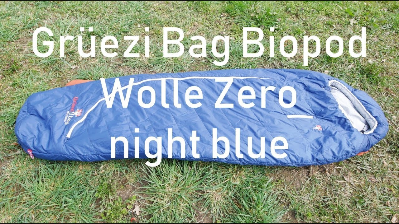 gut kaufen Offizielle Website moderne Techniken Grüezi Bag Biopod Wolle Zero night blue Schlafsack