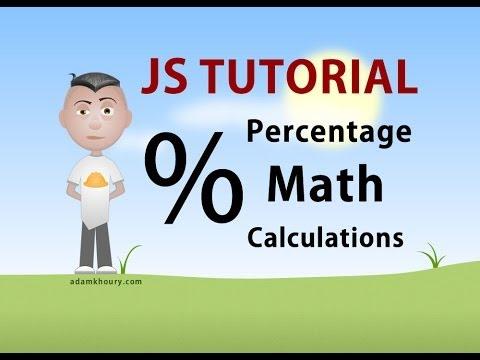 Percent Math Calculations Programming JavaScript Tutorial