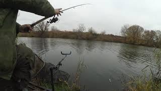 Рыбалка на фидер поздней осенью на реке Упе в Тульской области