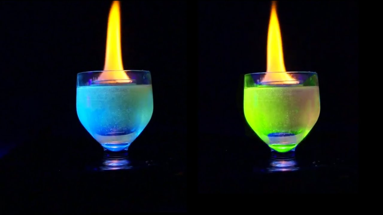 Flaming shot changes color - YouTube