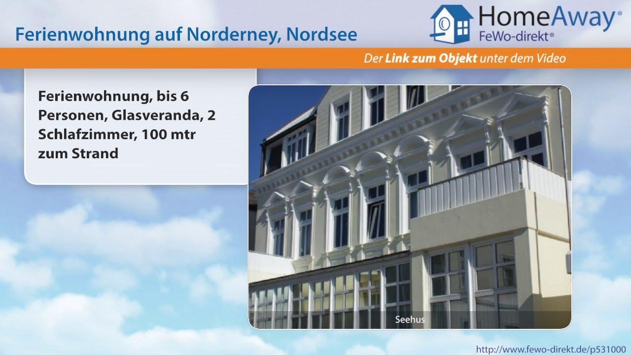 Norderney: Ferienwohnung, bis 6 Personen, Glasveranda, 2 ...