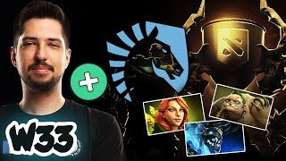 w33 FIRST TIME Battle Cup with Team Liquid - Will he be the new Core Player for Team Liquid? Dota 2