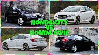 2018 Honda Civic VS Honda City Comparison.