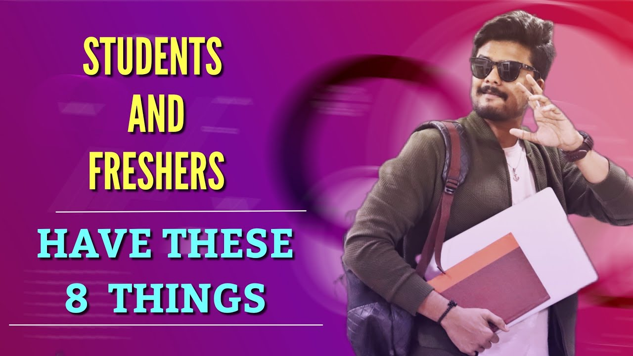 8 MUST-HAVE Things For Every Student and Fresher   men's Lifestyle Telugu    The Fashion Verge
