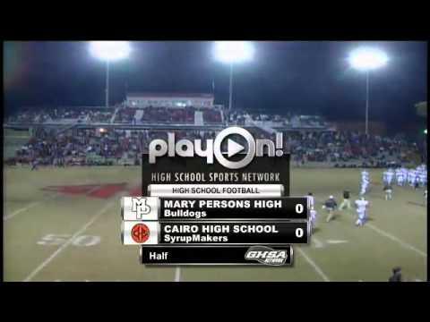 Football - Mary Persons vs. Cairo