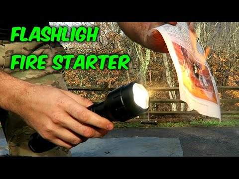 Flashlight Fire Starter