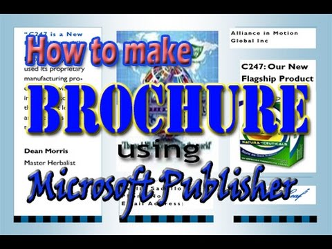 how to make brochure using microsoft publisher youtube