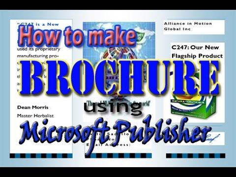 How to make brochure using Microsoft Publisher - YouTube