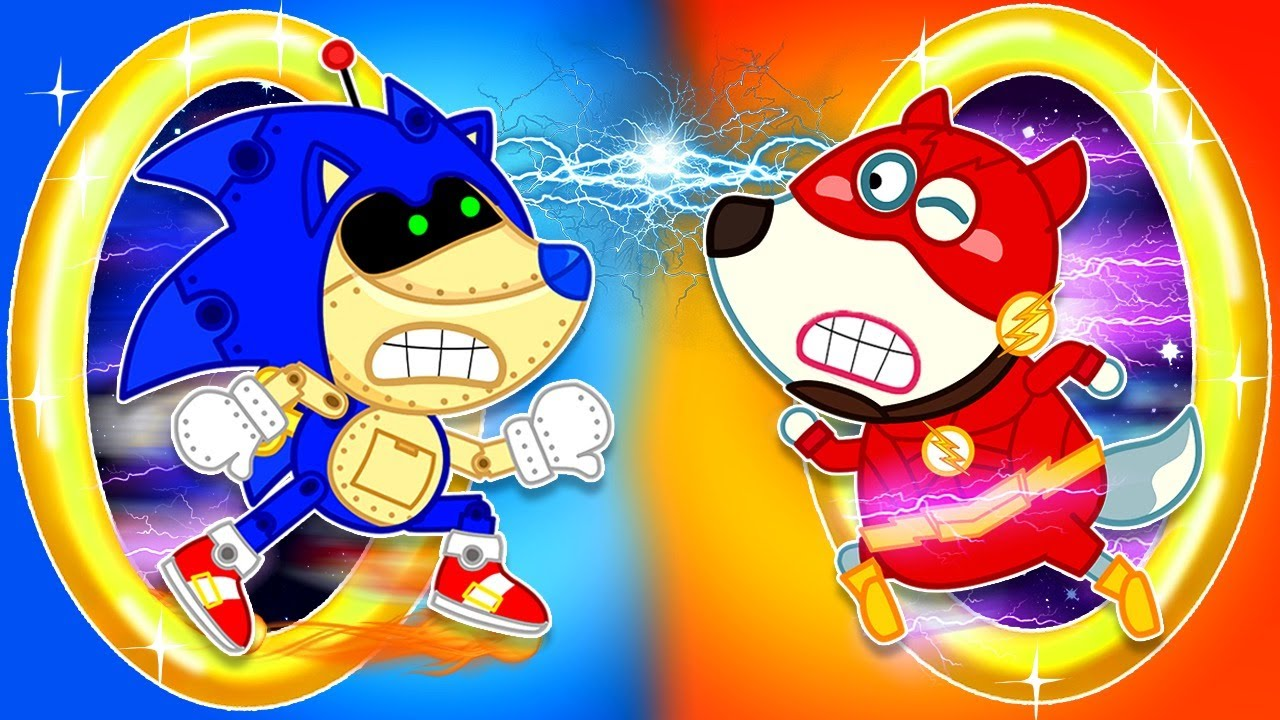 ? LIVE   Sonic the Hedgehog Toy vs The Flash Wolfoo: Race for Giant Golden Ring