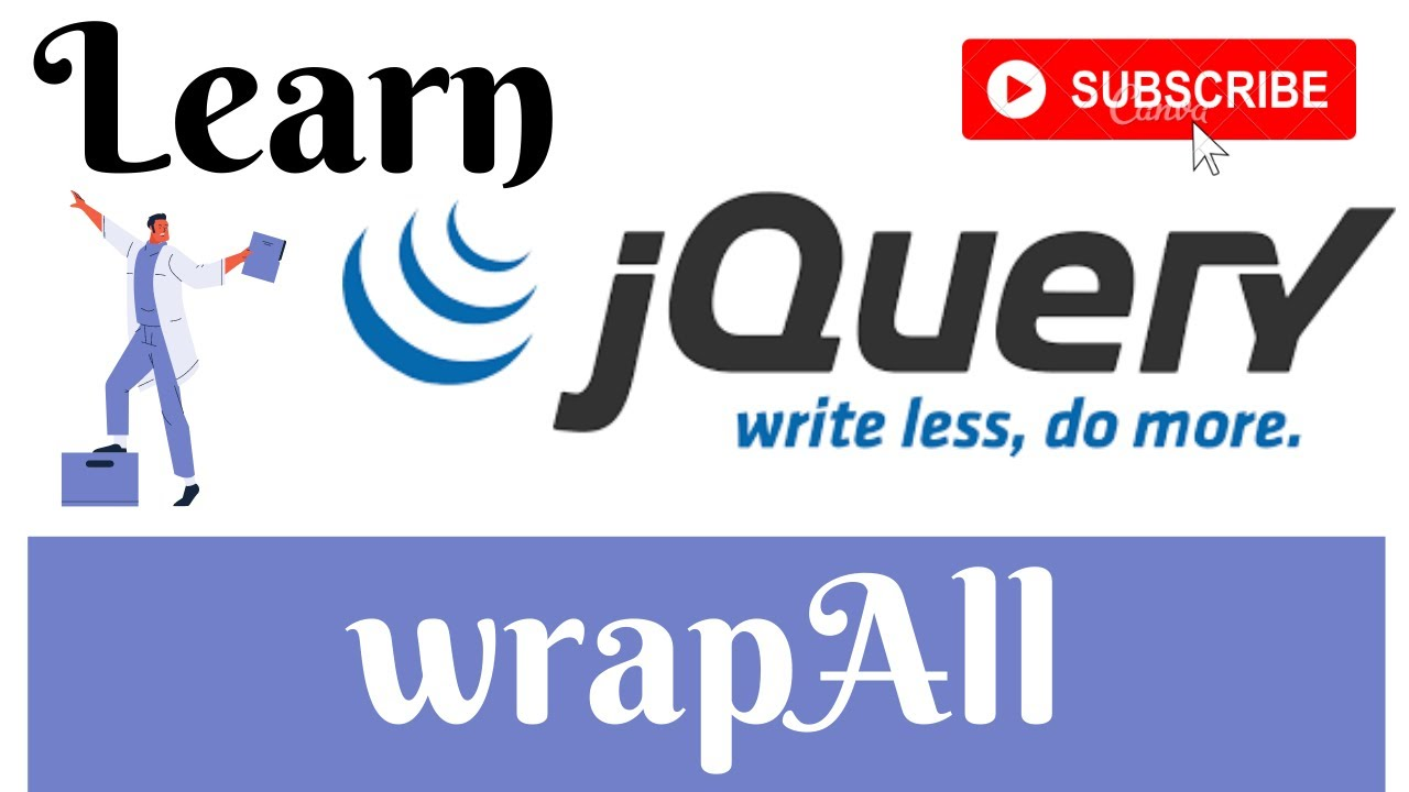 jQuery Lecture - 25 WrapAll Method Tutorial in Hindi / Urdu