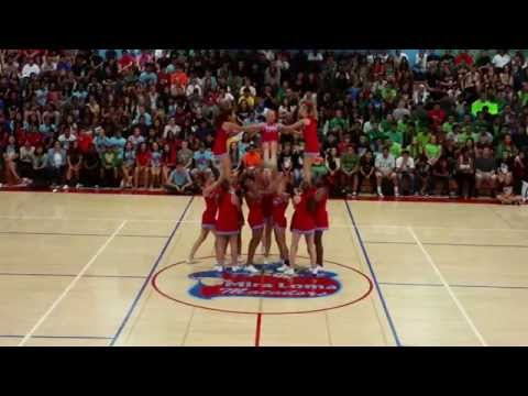 Mira Loma High School Cheer 1st Rally 2014