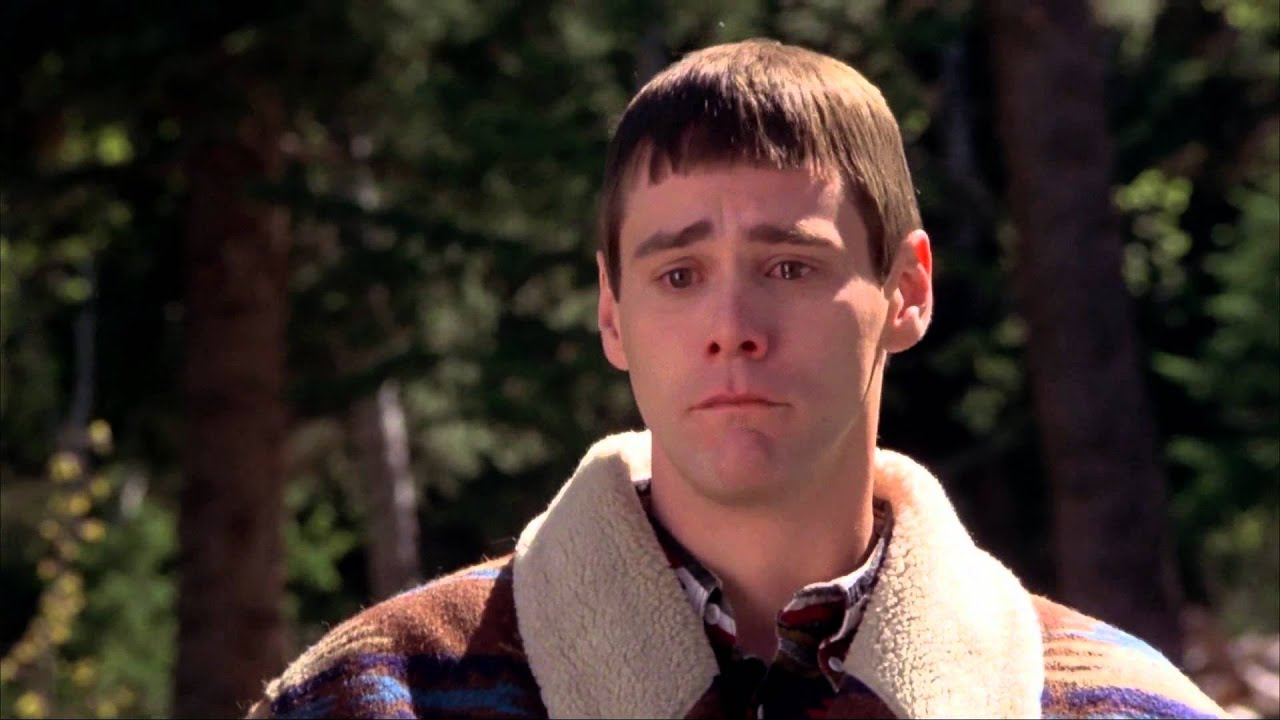 Lloyd (Jim Carrey) con arcadas en Dos tontos muy tontos - YouTube Jimcarrey
