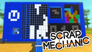 Scrap Mechanic CREATIONS - SPACE INVADERS, TETRIS and MORE!