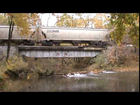 RJ Corman Corn Train Going To Clearfield PA