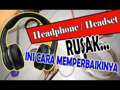 cara menyambung kabel headset / airphone 3 kabel ke 4 kabel